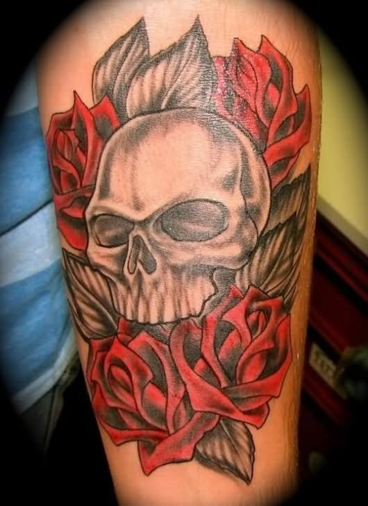 25 skull half sleeve tattoos. Black Bedroom Furniture Sets. Home Design Ideas