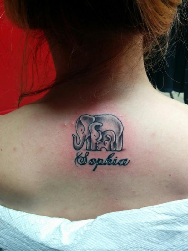 39 elephant family tattoos. Black Bedroom Furniture Sets. Home Design Ideas