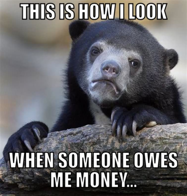 This Is How I Look When Someone Owes Me Money Funny Money Meme Image