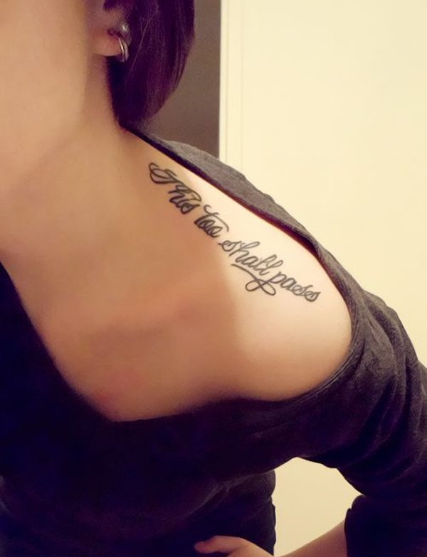 27+ Shoulder Quotes Tattoos