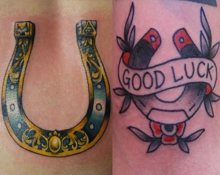 b2c13725fb5a9 Traditional Horseshoe Tattoo Idea