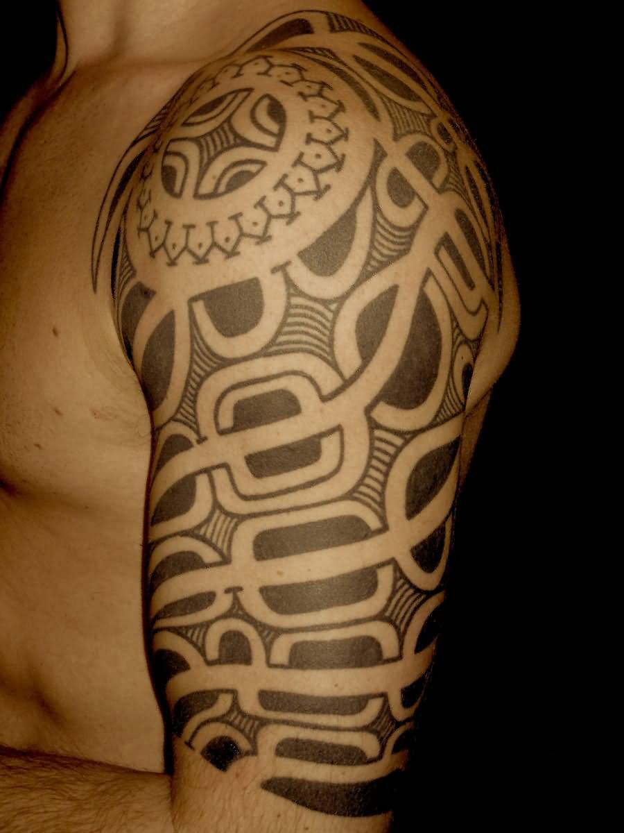 Tribal Quarter Sleeve Tattoo Designs: 28+ Tribal Half Sleeve Tattoos