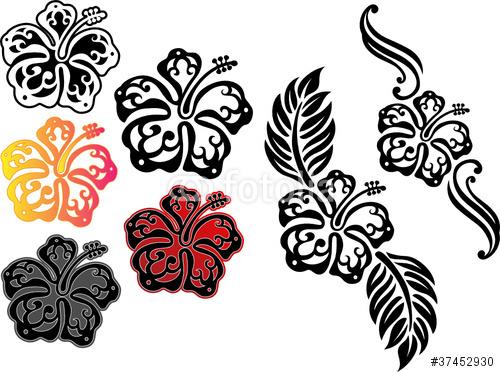18 nice tribal flower tattoos for Hibiscus tribal tattoo