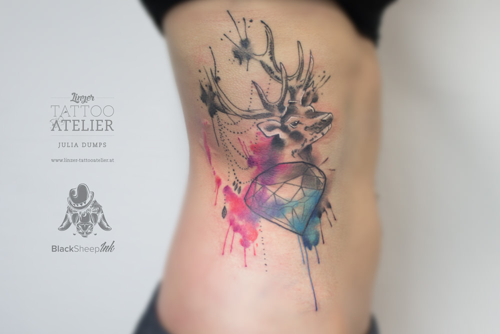 53 colorful watercolor tattoos. Black Bedroom Furniture Sets. Home Design Ideas