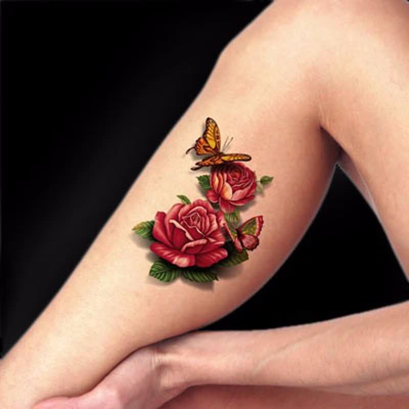 27 3d leg tattoos. Black Bedroom Furniture Sets. Home Design Ideas