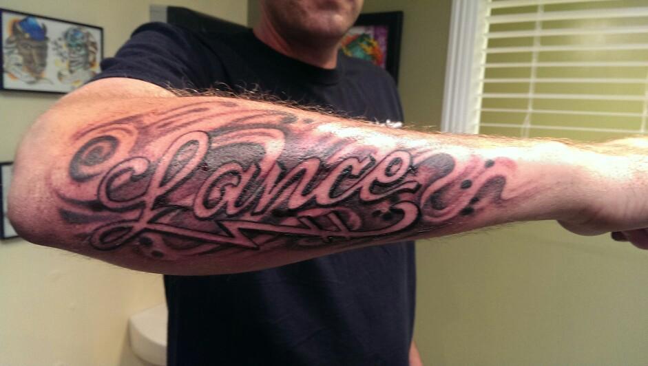 37 Forearm Name Tattoos