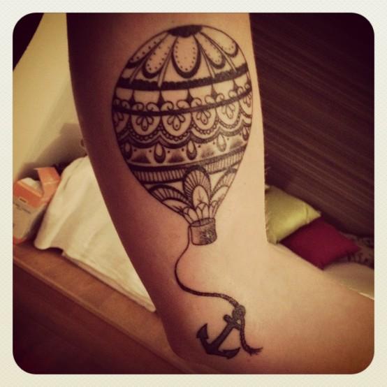 54 incredible hot balloon tattoos