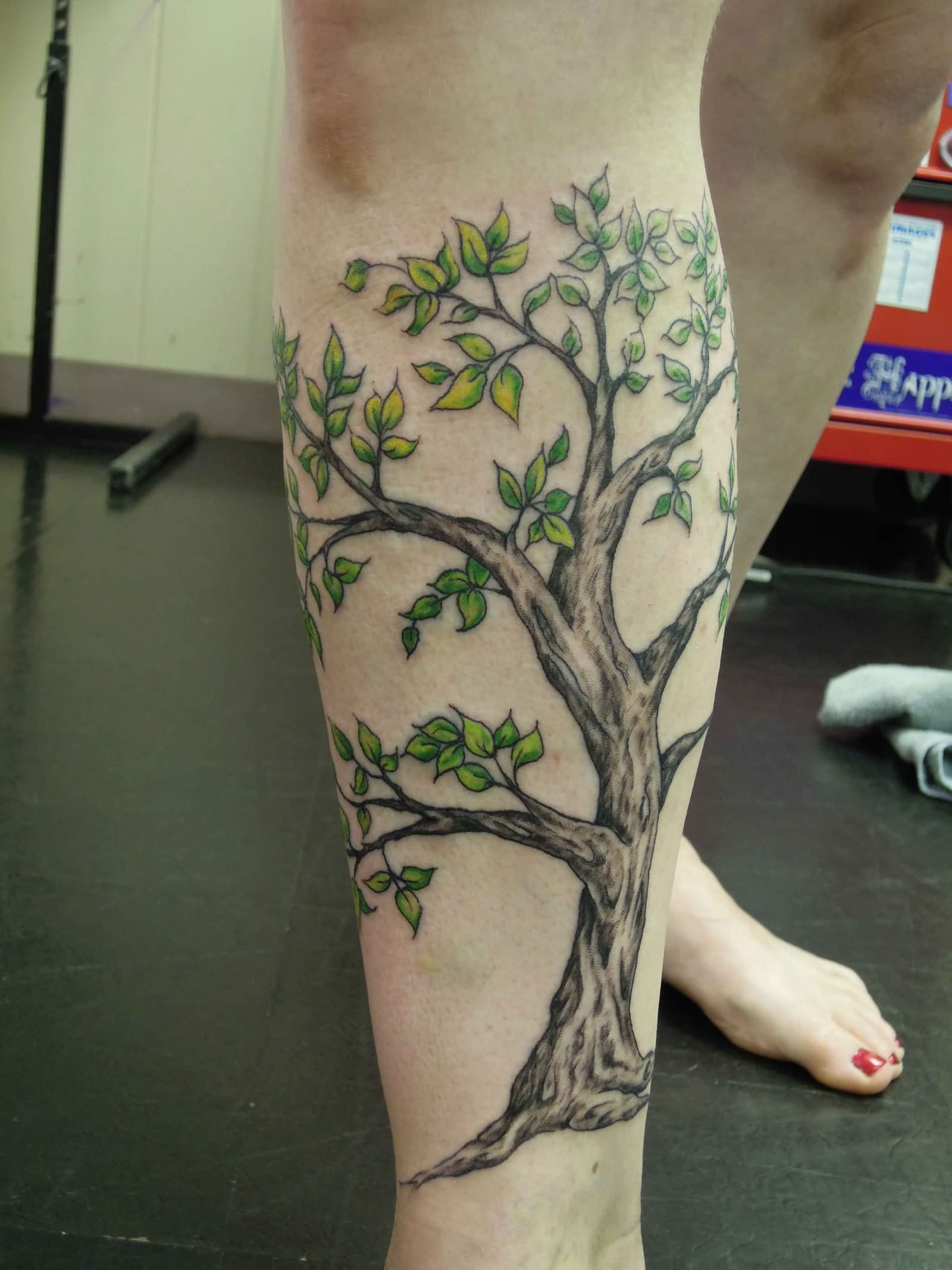 25 tree leg tattoos. Black Bedroom Furniture Sets. Home Design Ideas