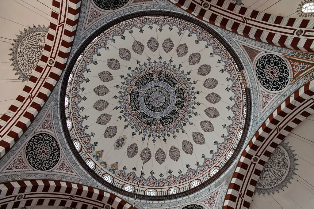 Beautiful Ceiling Of The Sehzade Mosque