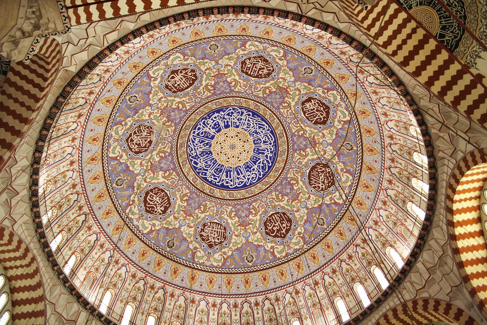 15 Incredible Interior View Pictures And Photos Of The Sehzada Mosque In Istanbul