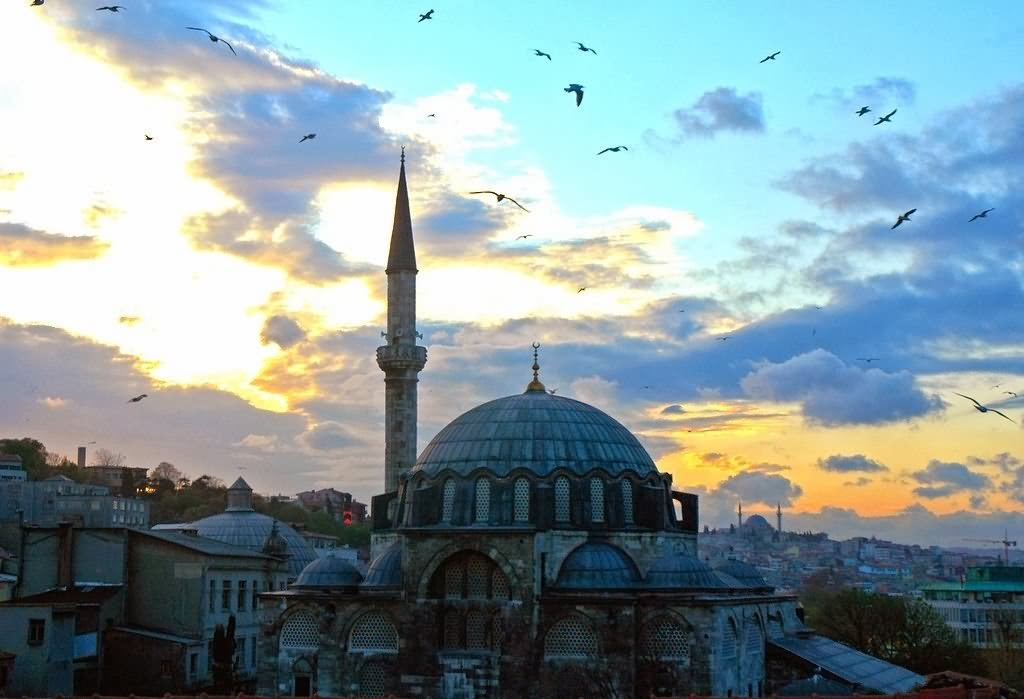 Beautiful Sunset View Of The Rustem Pasha Mosque
