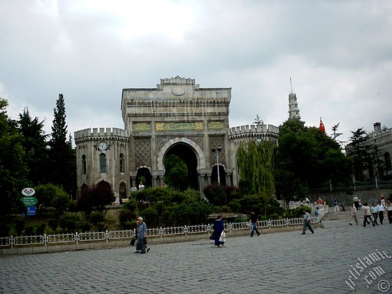 Beyazıt Tower And The Entrance Door Of The Istanbul ...