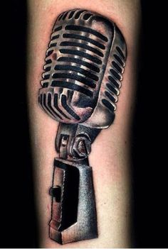 15 unique microphone tattoo designs. Black Bedroom Furniture Sets. Home Design Ideas