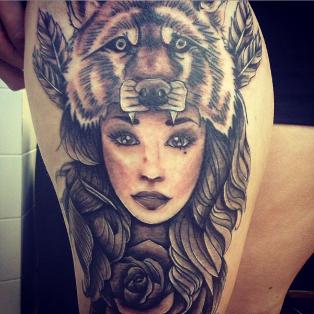35 Amazing Wolf Girl Tattoos