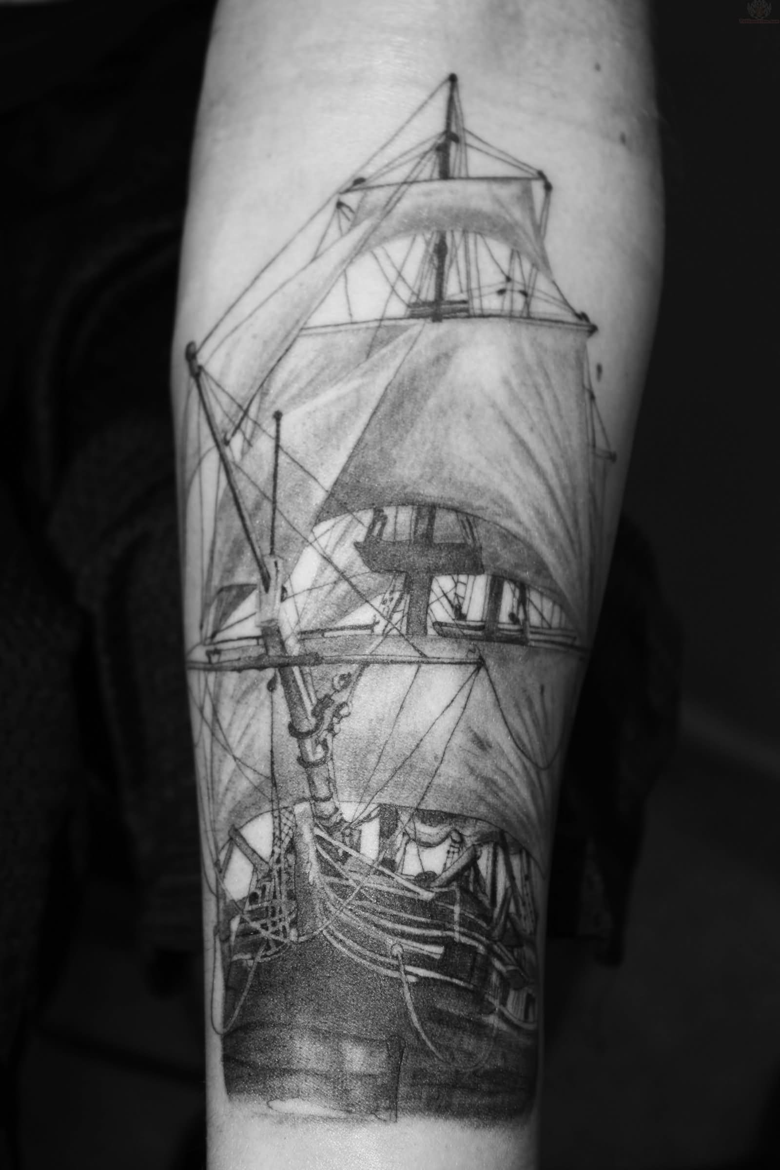 18+ Black And White Leg Sleeve Tattoos