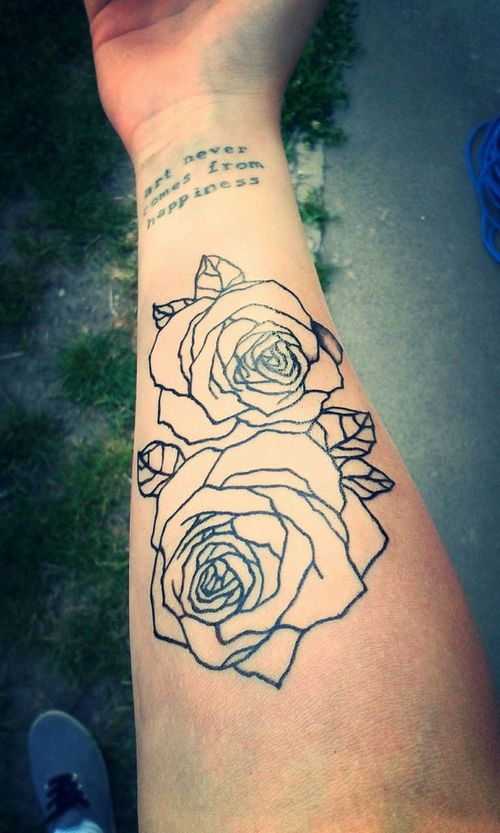 43+ Beautiful Forearm Rose Tattoos