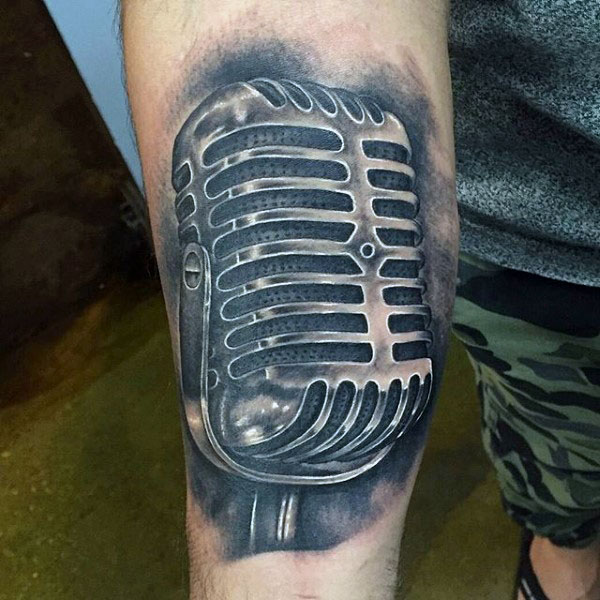 60+ Awesome Microphone Tattoos | 600 x 600 jpeg 84kB