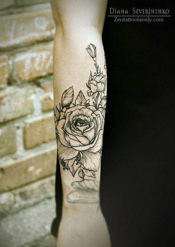 Rose Tattoos On Forearm Women Best Tattoo Ideas