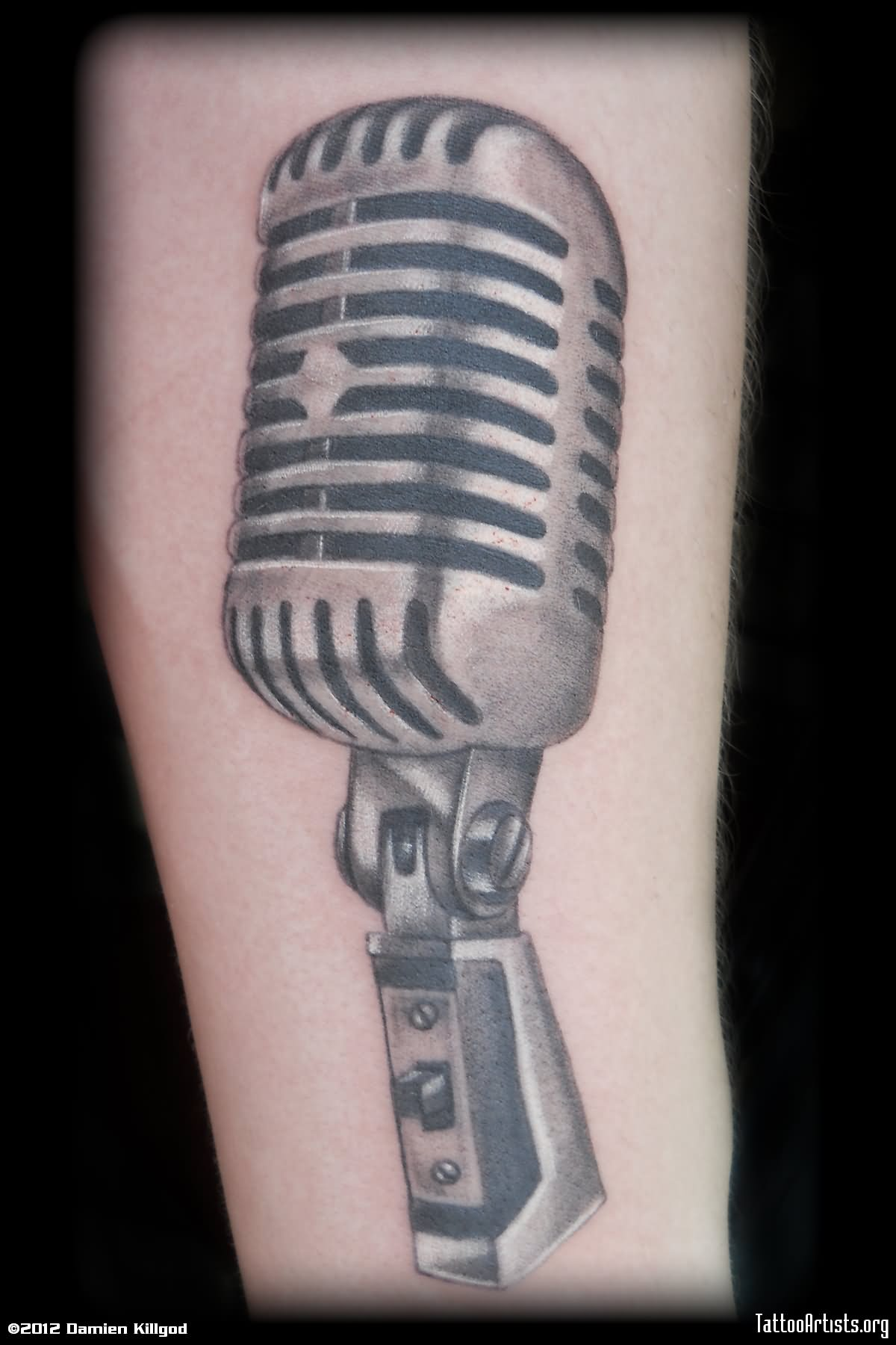 60+ Awesome Microphone Tattoos | 1200 x 1800 jpeg 138kB