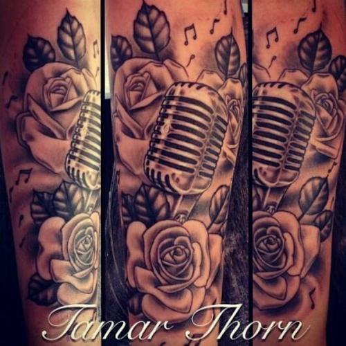 35+ Microphone Rose Tattoos