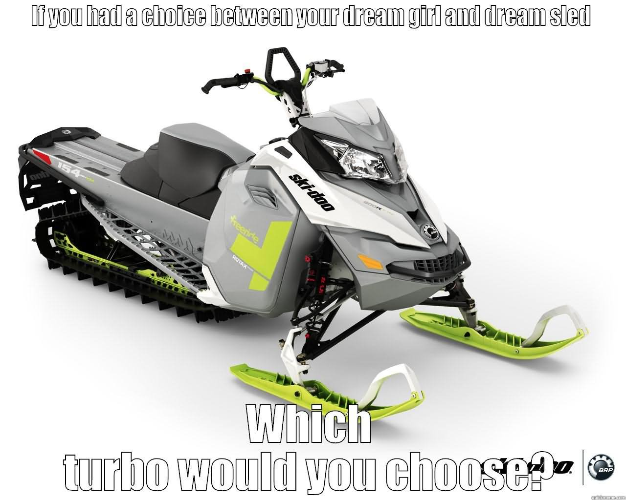 If You Had A Choice Between Your Dream Girl And Sled Funny Sled Meme Image 25 most funniest sled meme pictures on the internet