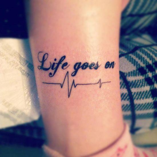 23+ Latest Leg Quote Tattoos