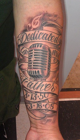 60+ Awesome Microphone Tattoos | 276 x 480 jpeg 44kB