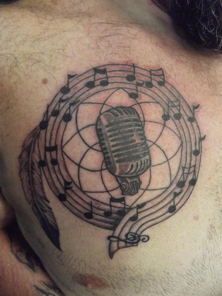 60+ Awesome Microphone Tattoos