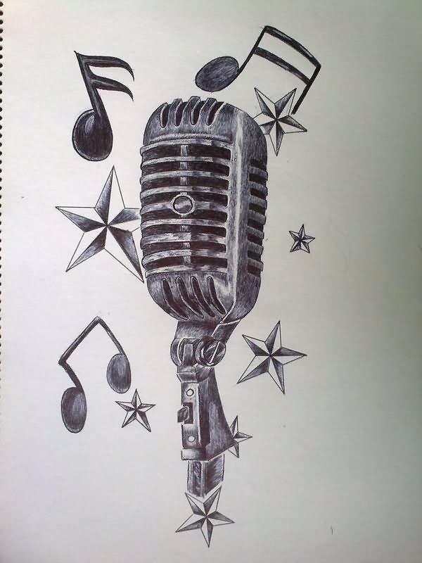 28 Microphone Tattoos On Sleeve