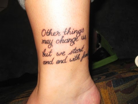 23 Latest Leg Quote Tattoos
