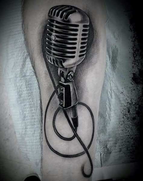 60 Awesome Microphone Tattoos