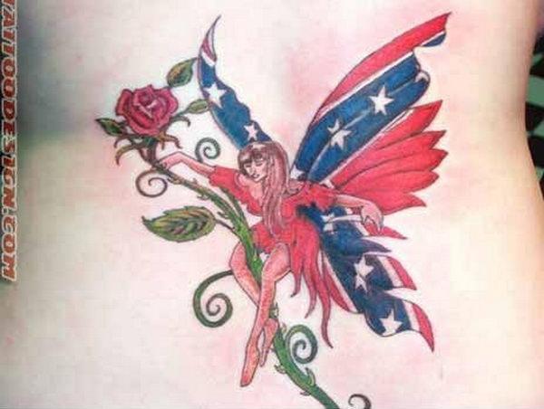 45 rebel flag tattoos. Black Bedroom Furniture Sets. Home Design Ideas
