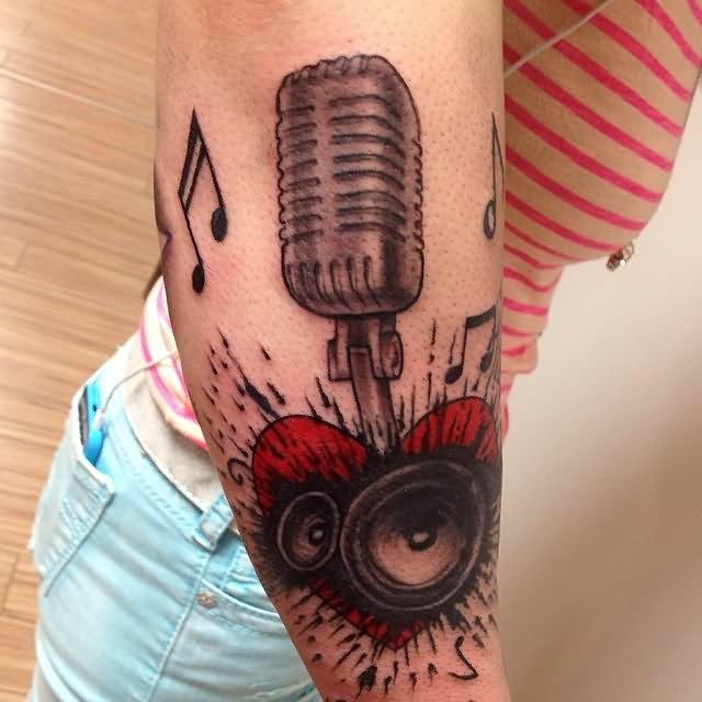 microphone tattoos. Black Bedroom Furniture Sets. Home Design Ideas