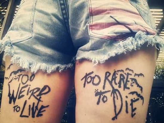 Quote Tattoos Thigh: 23+ Latest Leg Quote Tattoos