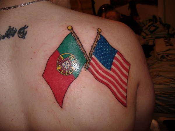10 amazing two flag tattoos for Irish canadian tattoos