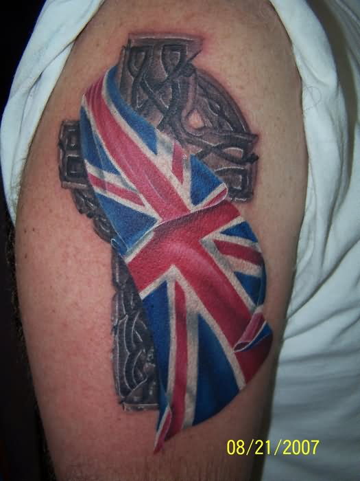23 best uk flag tattoos. Black Bedroom Furniture Sets. Home Design Ideas