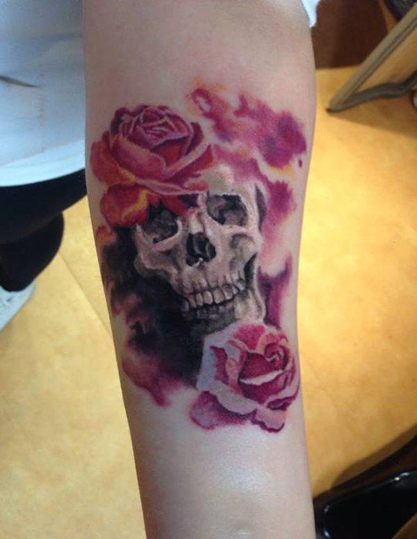 43 beautiful forearm rose tattoos. Black Bedroom Furniture Sets. Home Design Ideas