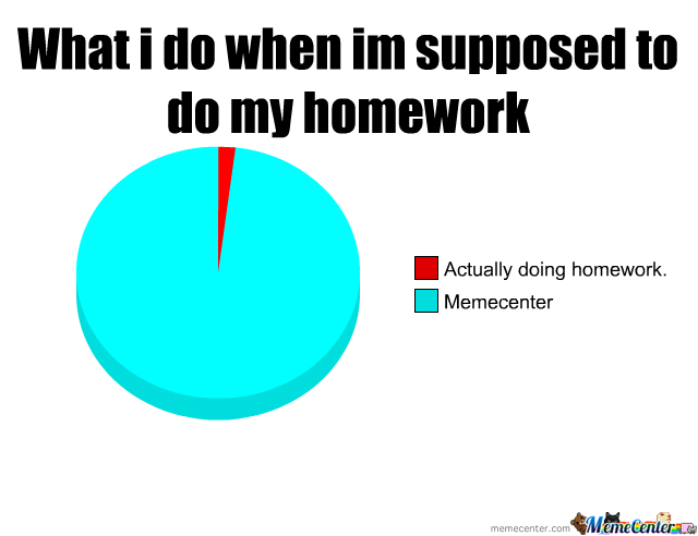 I write my homework