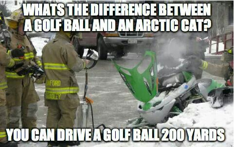 Whats The Difference Between A Golf Ball And Arctic Cat Funny Sled Meme Image 25 most funniest sled meme pictures on the internet
