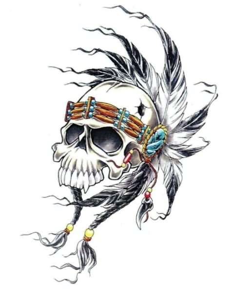 44 indian chief skull head tattoos. Black Bedroom Furniture Sets. Home Design Ideas