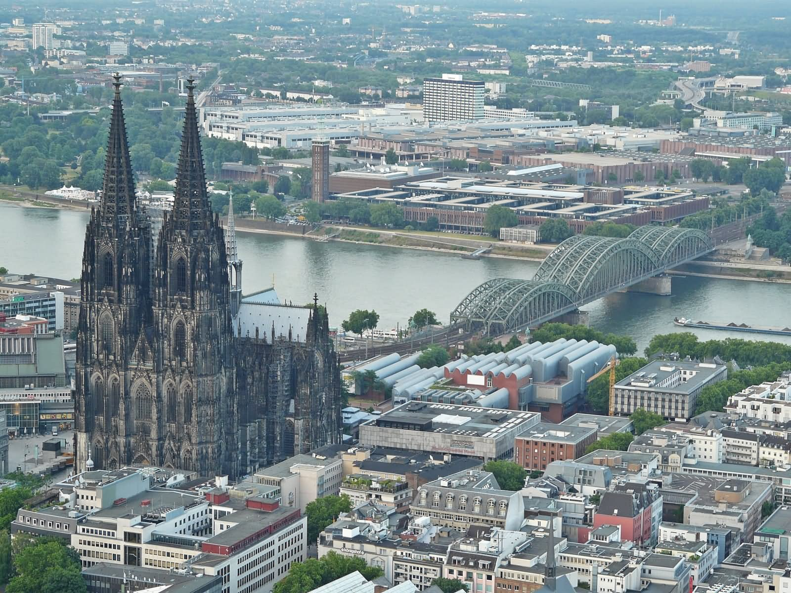 Aerial View Of The Cologne Cathedral Germany