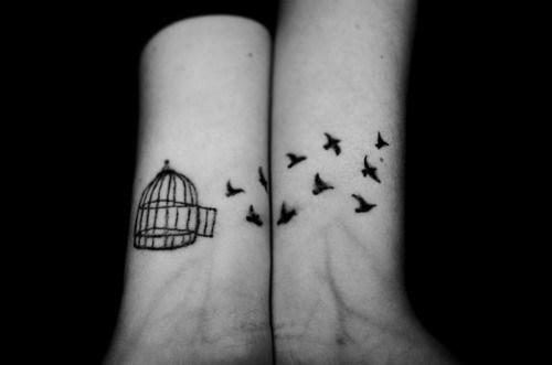 331b1e616 Amazing Cage And Black Birds Tattoos On Wrist