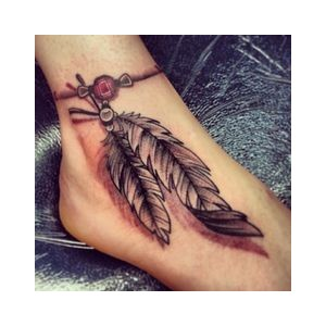 Attractive 3d Dreamcatcher Tattoo On Foot By Shaunadzb