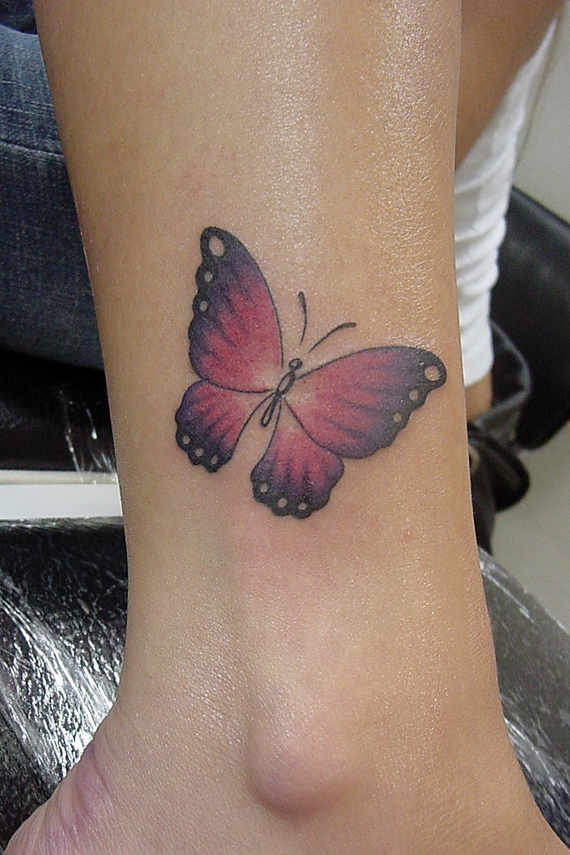 30 cute ankle butterfly tattoos for Cute butterfly tattoos