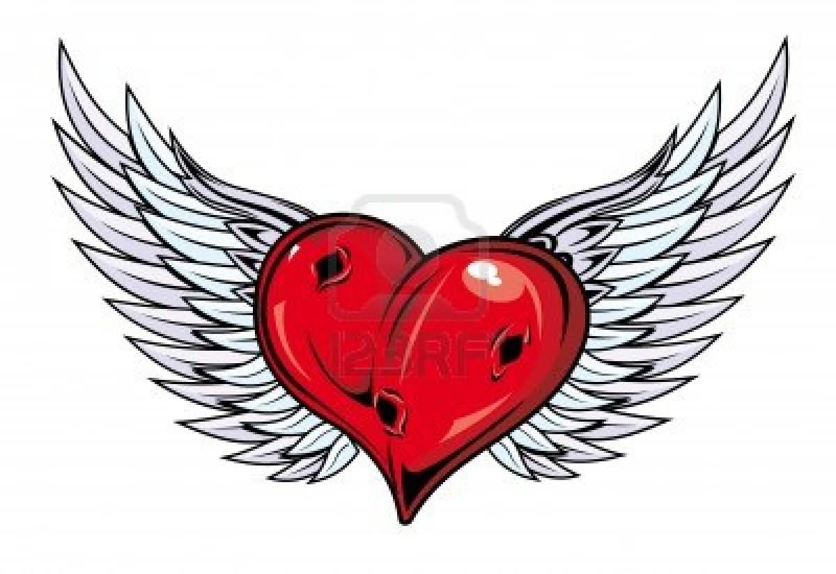 Top Gothic Hearts With Wings Drawings Images for Pinterest ...