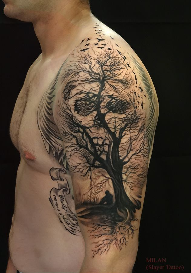 35 Gothic Tree Tattoos