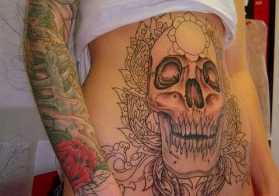 angel wing | ♡ !ηKᏋD ♡ | Pinterest | Around the worlds ...  |Skull Tummy Tattoo Wings