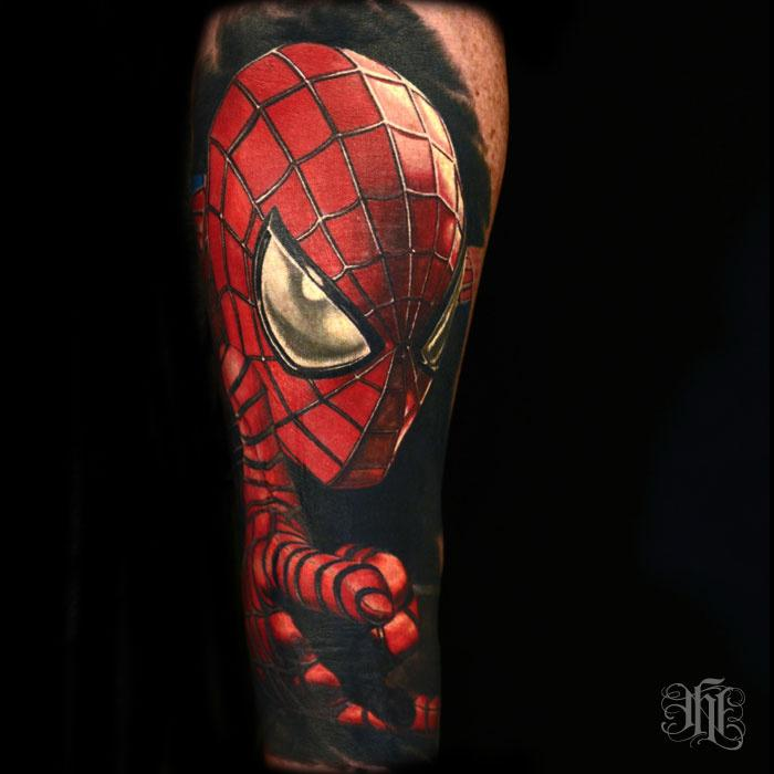 b6d1a4eec Awesome Colored Spiderman Tattoo