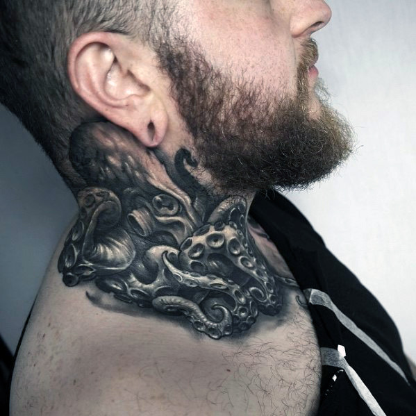 Tattoo For Men Neck: 70+ Fantastic Neck Tattoos