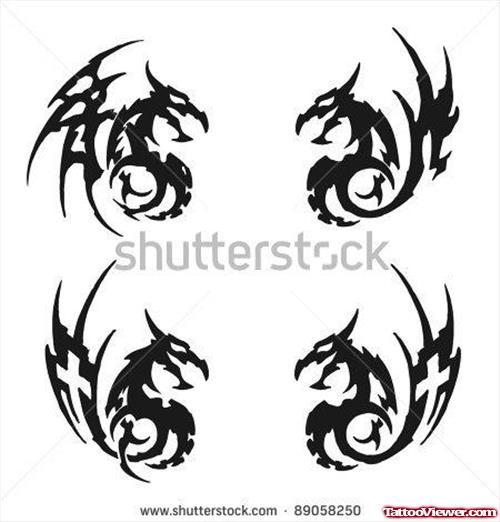 44 gothic dragon tattoos. Black Bedroom Furniture Sets. Home Design Ideas